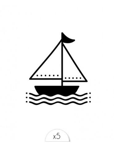 5 Mini-tatouages Pieuvre Pirate