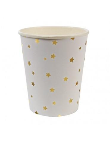 8 gobelets étoiles Dorées