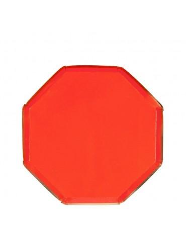Petites assiettes carton Rouges et dorées Meri Meri décoration table de fête