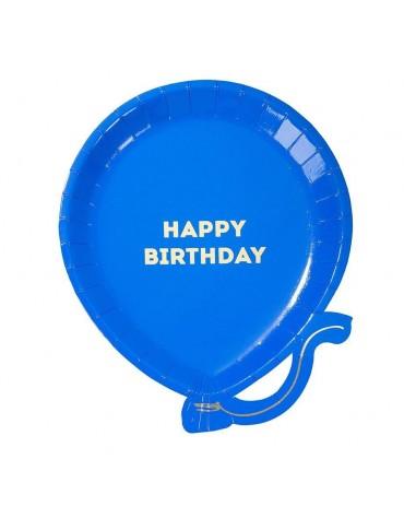 12 assiettes Ballon Happy birthday