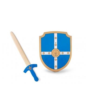 Bouclier et épée en bois