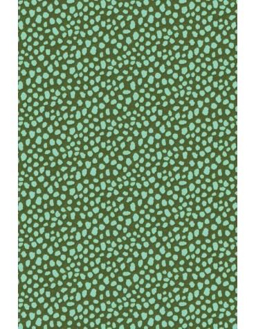 1 Feuiille Décopatch moucheté vert