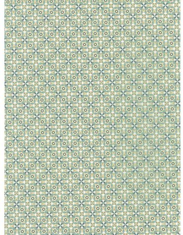 1 Feuiille Décopatch jaune motifs géométriques