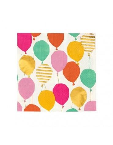 12 petites serviettes Ballons