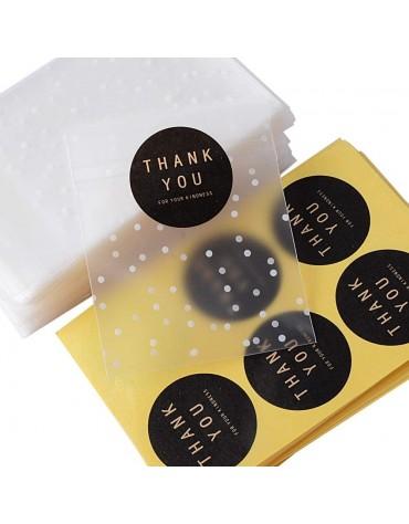Sachets biscuits + étiquettes thank you