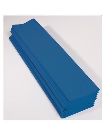 1 Rouleau papier crépon bleu