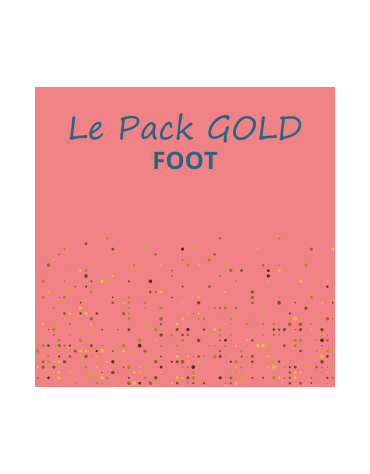 1 Pack foot outdoor gold
