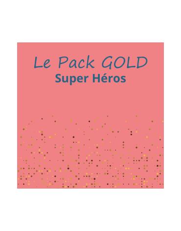 Le Pack Super héros gold