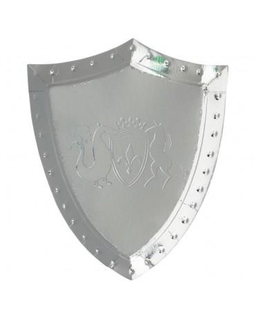 assiettes argentées Bouclier de Chevalier Meri Meri