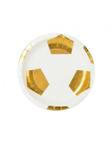 Petites assiettes ballon football Talking Tables décoration table de fête
