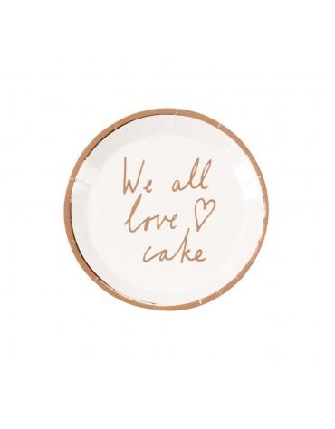 12 mini assiettes We all love cake
