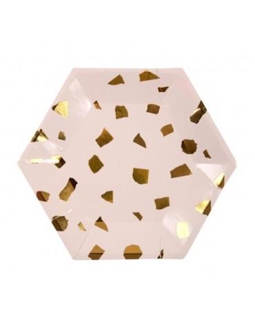 Petites assiettes gros confettis