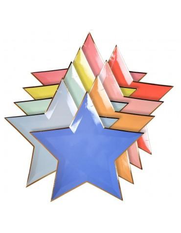 8 Assiettes carton étoile Meri Meri décoration table de fête