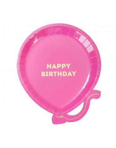 Assiettes carton Ballon bleu Happy birthday Meri Meri décoration table de fête