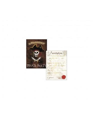 Cartes Invitation et Enveloppes Pirate Cartesdart