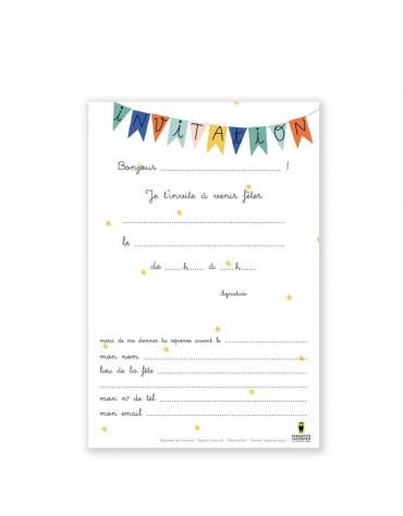 Cartes Invitation anniversaire original Pirouette Cacahouète