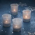 Photophores en verre pailletés argentés décoration de table originale