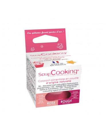 Colorant alimentaire en poudre d'origine naturelle rouge ScrapCooking
