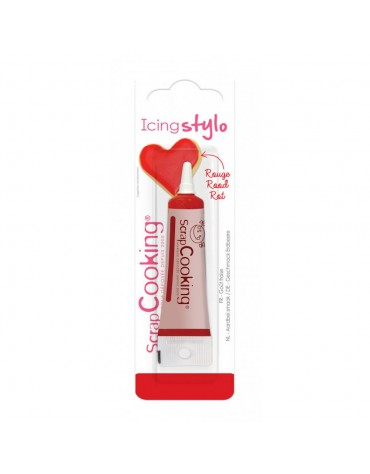 Icing stylo rouge goût fraise ScrapCooking
