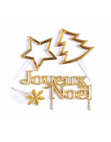 4 Accessoires de Noël dorés originaux ScrapCooking