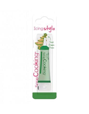 Icing stylo vert ScrapCooking