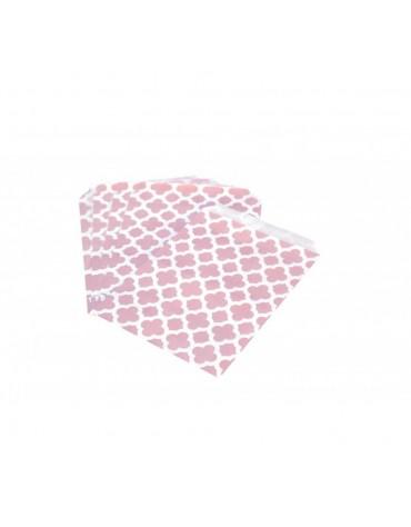 25 Petits Sachets en papier Rétro roses