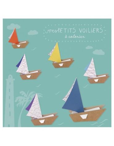 Kit Créatif Petits Voiliers Pirouette cacahouete