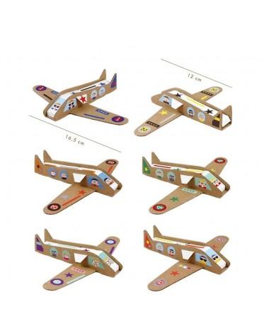 Kit Créatif 6 Avions Pirouette Cacahouète