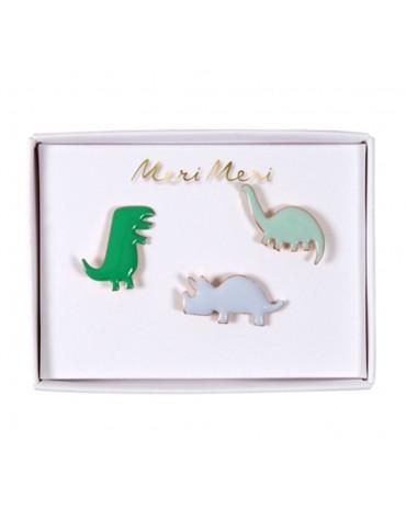 3 Pin's Dinosaures
