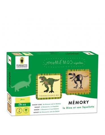 Mémory Dinosaures Pirouette Cacahouète