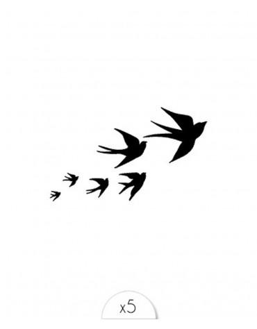 5 Tatouages Envolée d'oiseaux