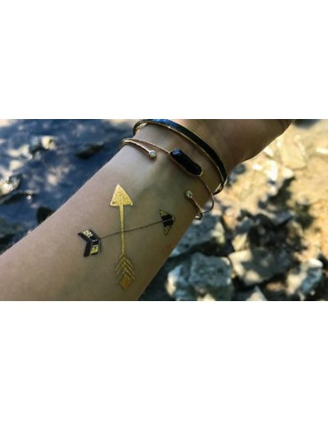 5 Tatouages Flèches dorées