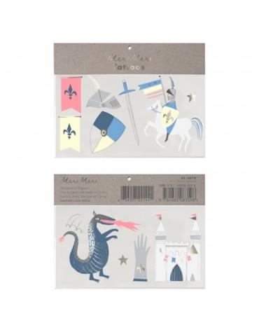 Tatouages Dragon et chevalier