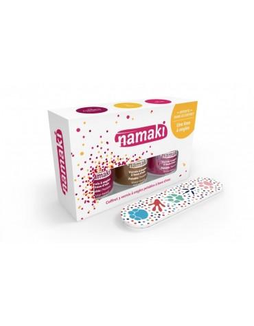 Coffret 3 vernis + 1 lime à ongles Namaki