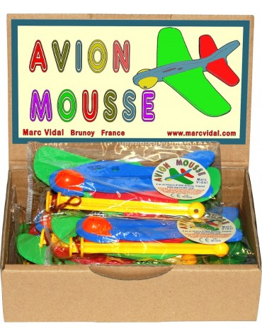 Avion en mousse  Marc vidal