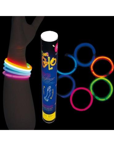Tube 50 bracelets lumineux cadeau invités
