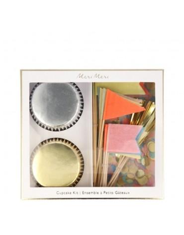 Kit 24 caissettes Cupcakes Drapeaux original Meri Meri