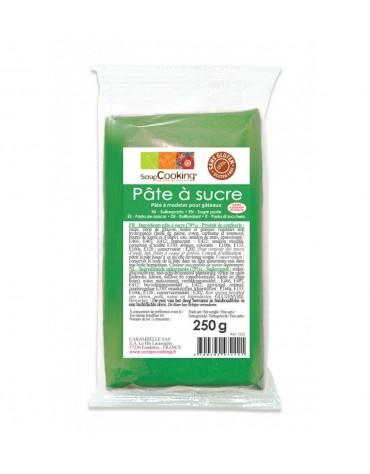 Pâte à Sucre verte 250g