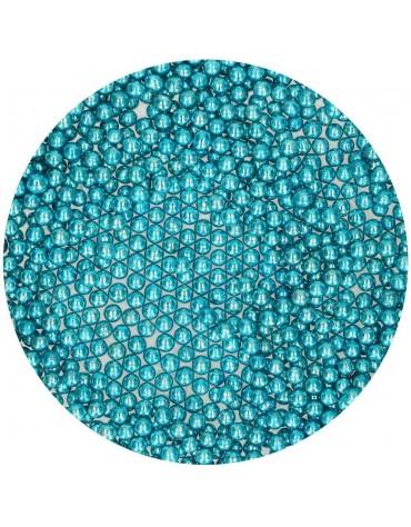 1 pot Perles bleu métallisé decoration gâteau