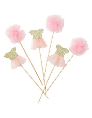 Toppers Tutus et Pompons Talking Tables