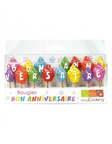 15 Bougies Cupcakes ScrapCooking