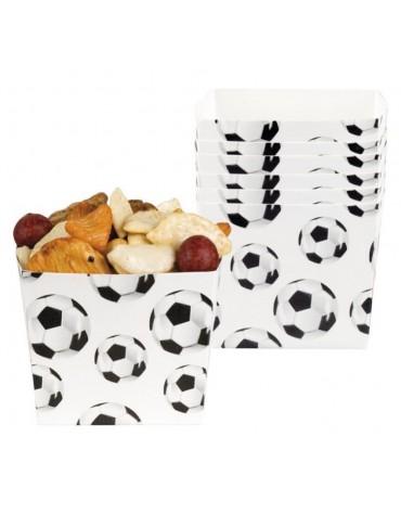 6 Boites Popcorn Football