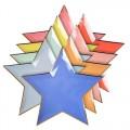 assiette étoiles colorées Meri Meri