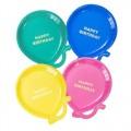 assiette ballons colorés Talking Tables