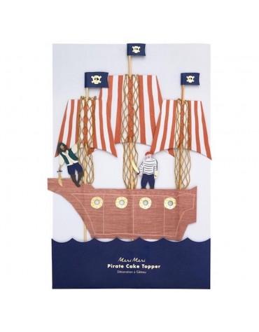1 Topper Géant bateau de Pirate
