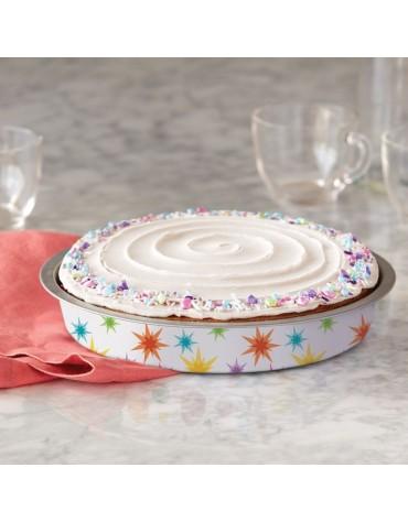 Moule rond en étain semi-jetable gâteau anniversaire