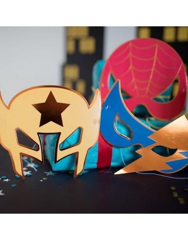 8 masques Super-Héros anniversaire enfants