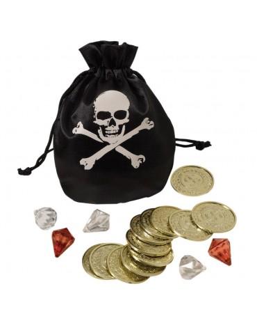 Bourse Pirate 12 pièces et diamants