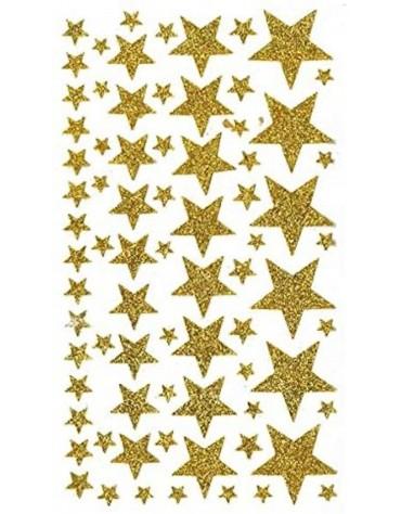 Stickers étoiles dorées pailletées artemio