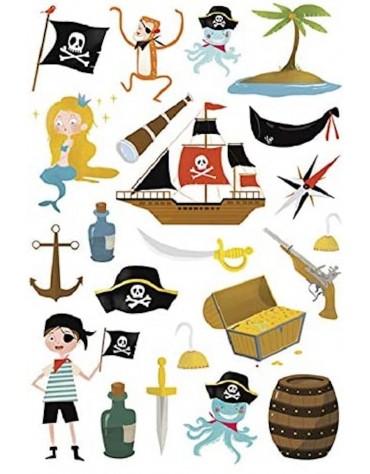 Stickers Pirates Maildor anniversaire enfants